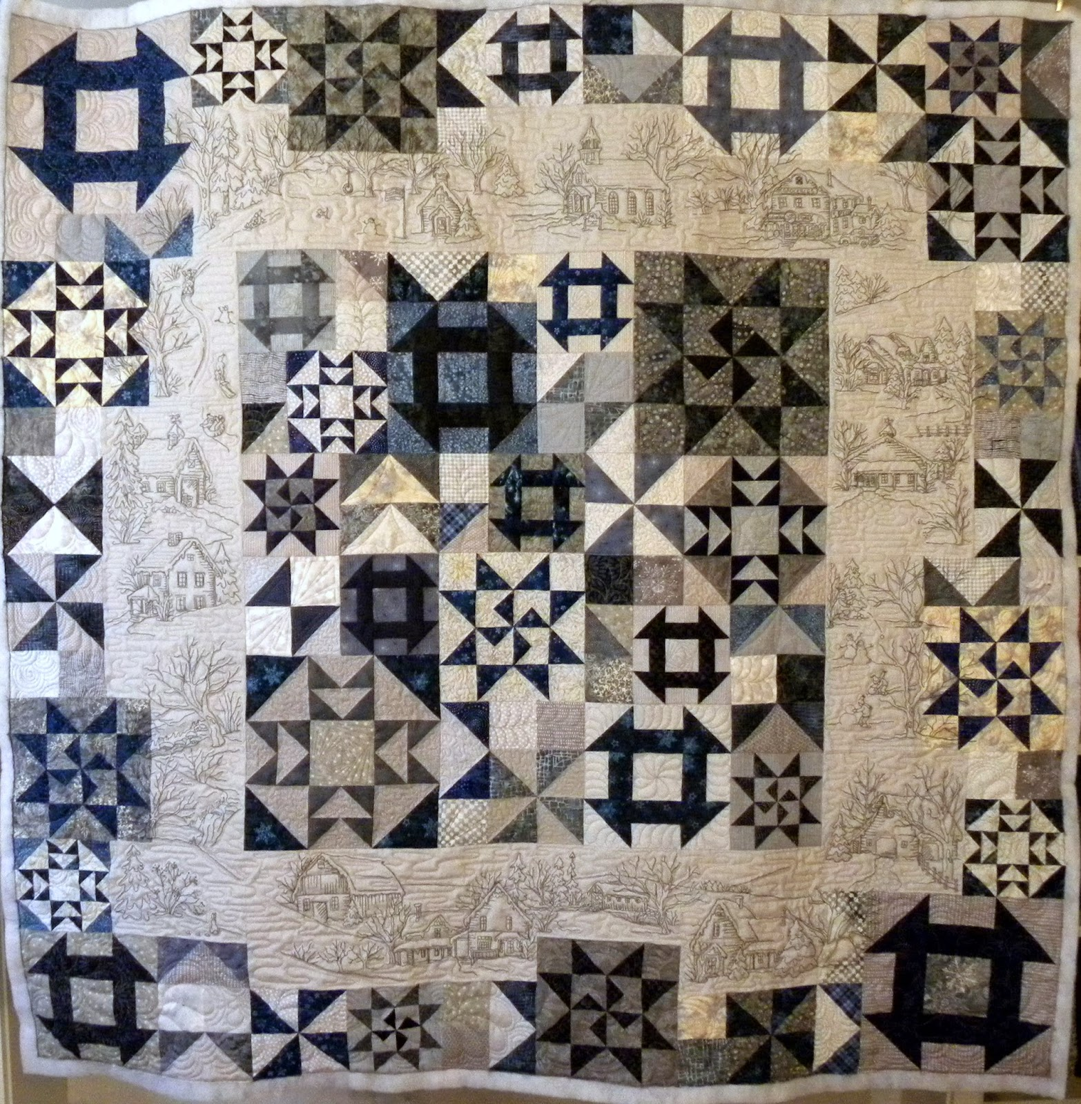 Crazy Horse Quilting: Crabapple Hill's Snow Day's Quilt : snow quilts - Adamdwight.com