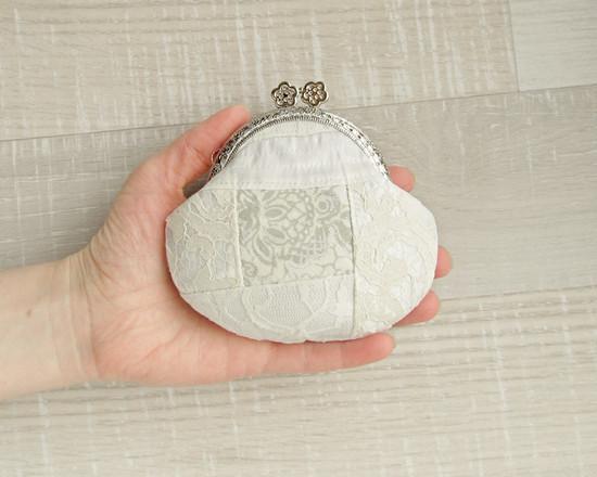Coin purse lace, свадебный кошелек