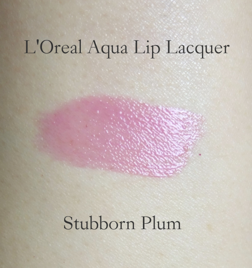 L'Oreal Wet Shine Stain Stubbron Plum swatch