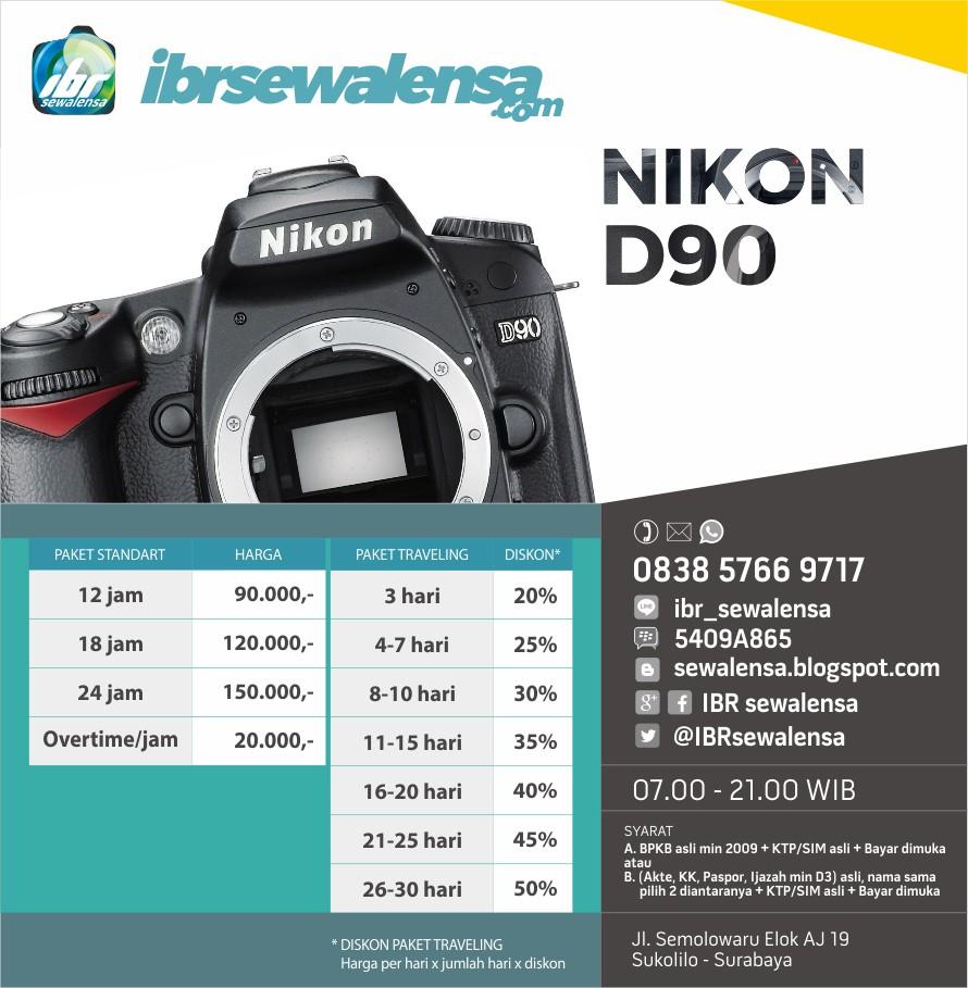 Nikon D90 Harga Sewa Rental Lensa Kamera