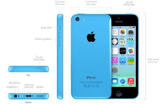 iPhone 5C Dimension