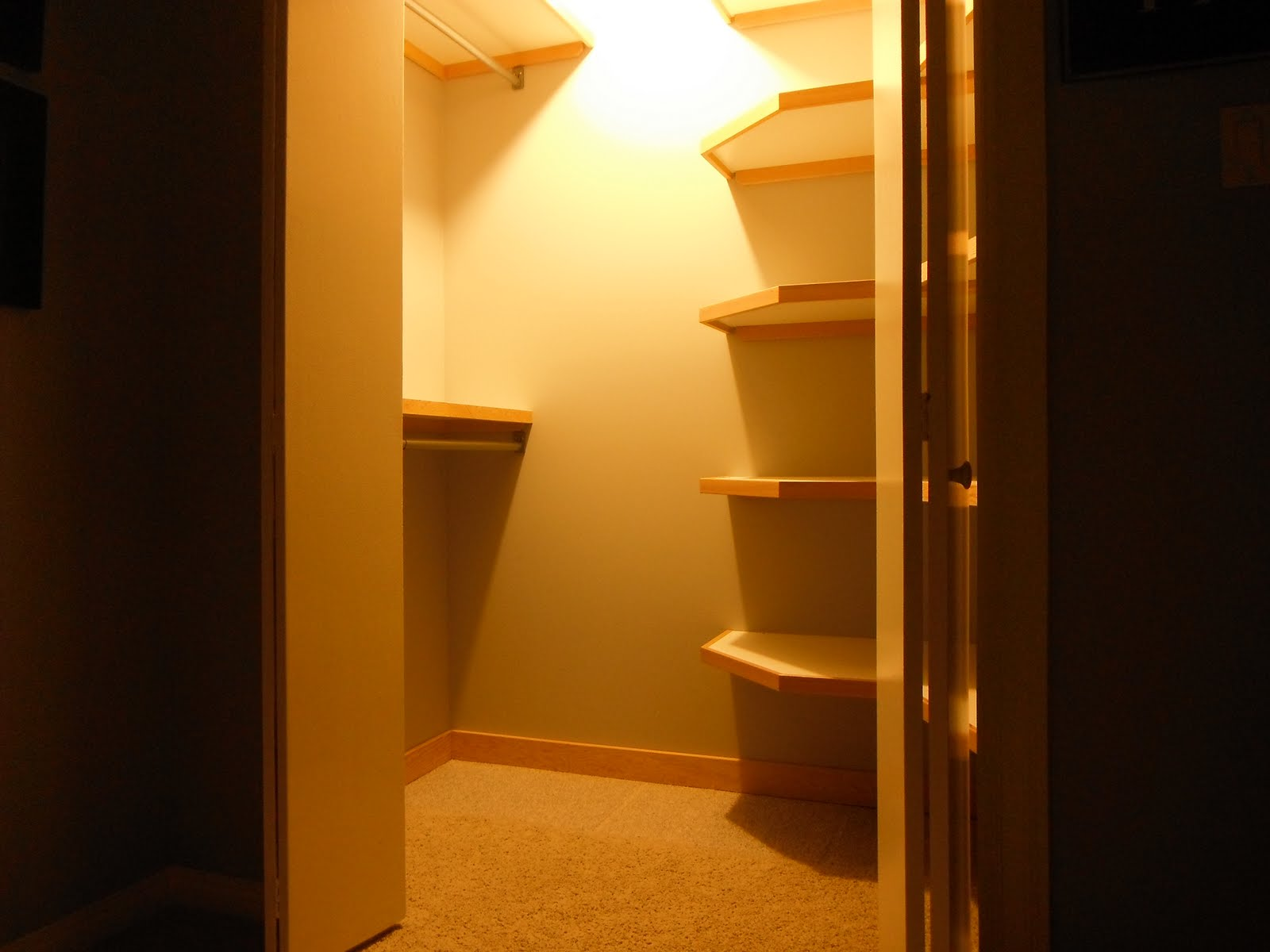 Of Course, When We Invade The Hall Closet, The Items That Were Stored There  Need A Home In The New Closet. We Packed In Some Nice, Open Shelving On The  ...