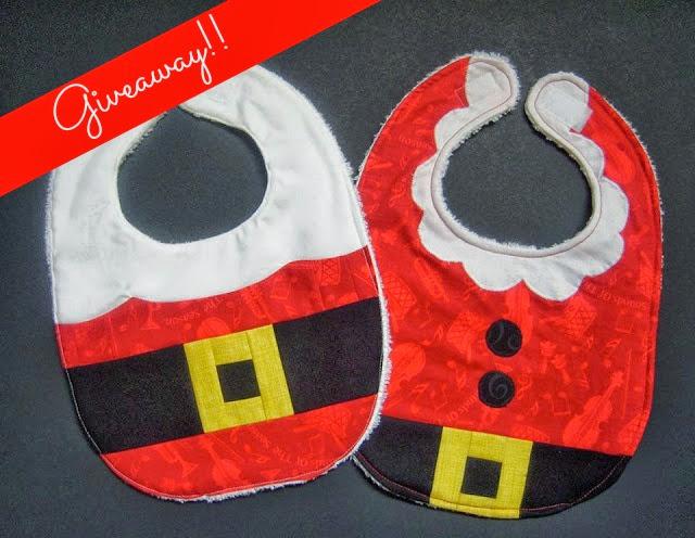 I dig pinterest santa and mrs claus baby bib giveaway