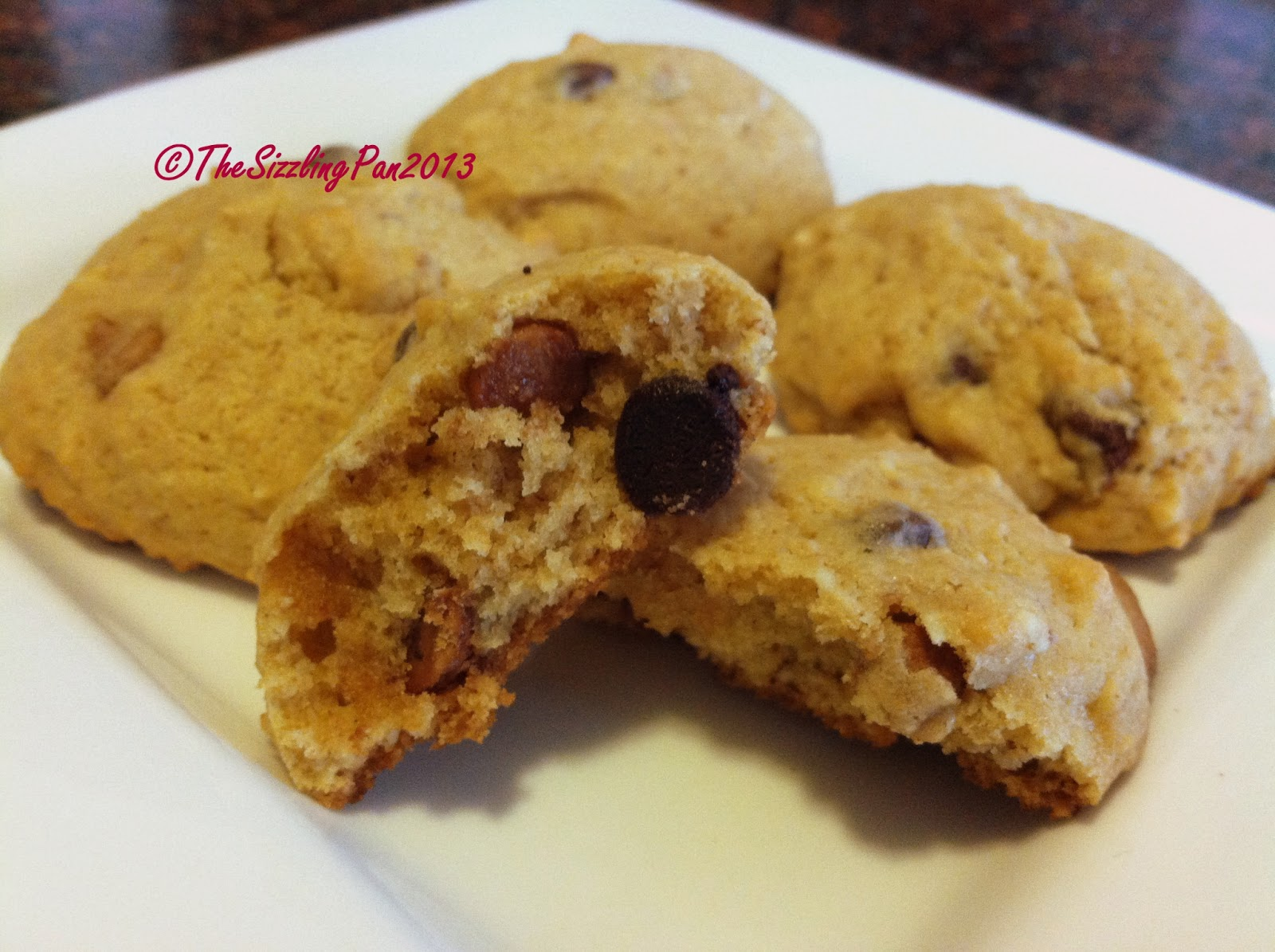 """The Sizzling Pan: """"Whole Wheat"""" Almond and Chocolate Chip Cookies"""