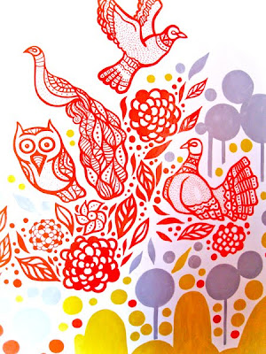 Jayesh Sivan - Illustrations: Mural Illustration