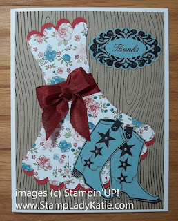 Card made with Stampin'UP! stamp set: Bootiful Occasions