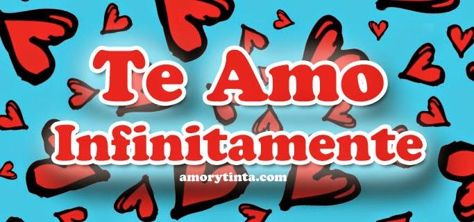 corazones rojos con la frase te amo infinitamente