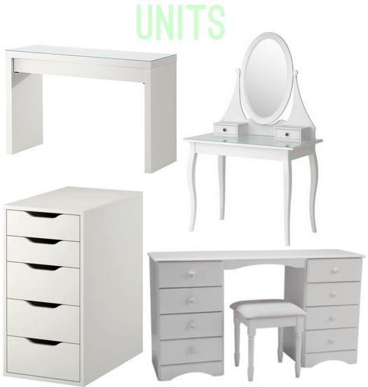 Wishlist beauty storage hello teddy - Malm dressing table drawer organizer ...