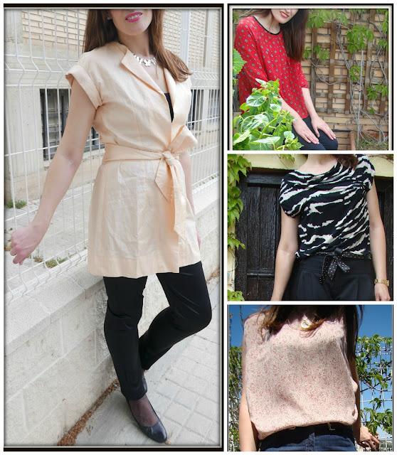 Chaleco, blusas y pantalones handmade