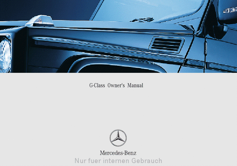 Mercedesmanuals Download Mercedes Benz G Class Owner S Manual