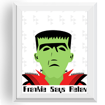 Halloween Frankenstein Wall Art