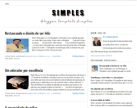 Simples Blogger Theme