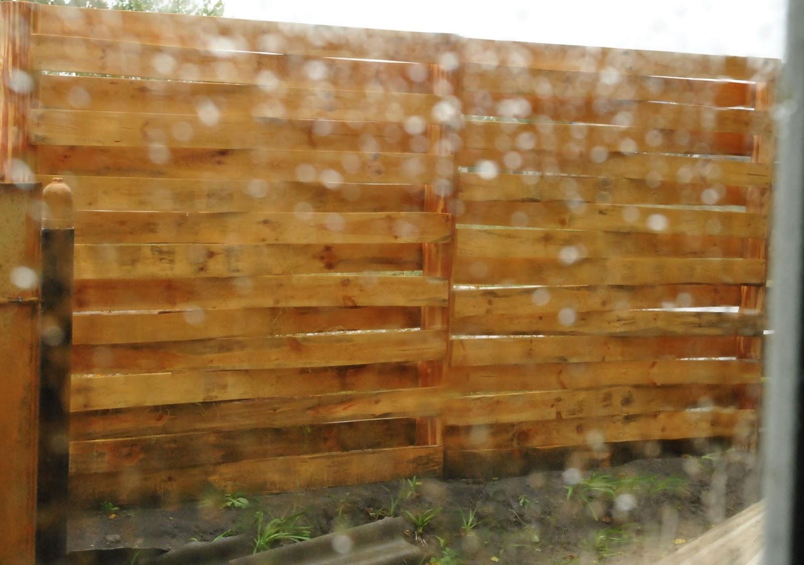 деревянный забор вариации