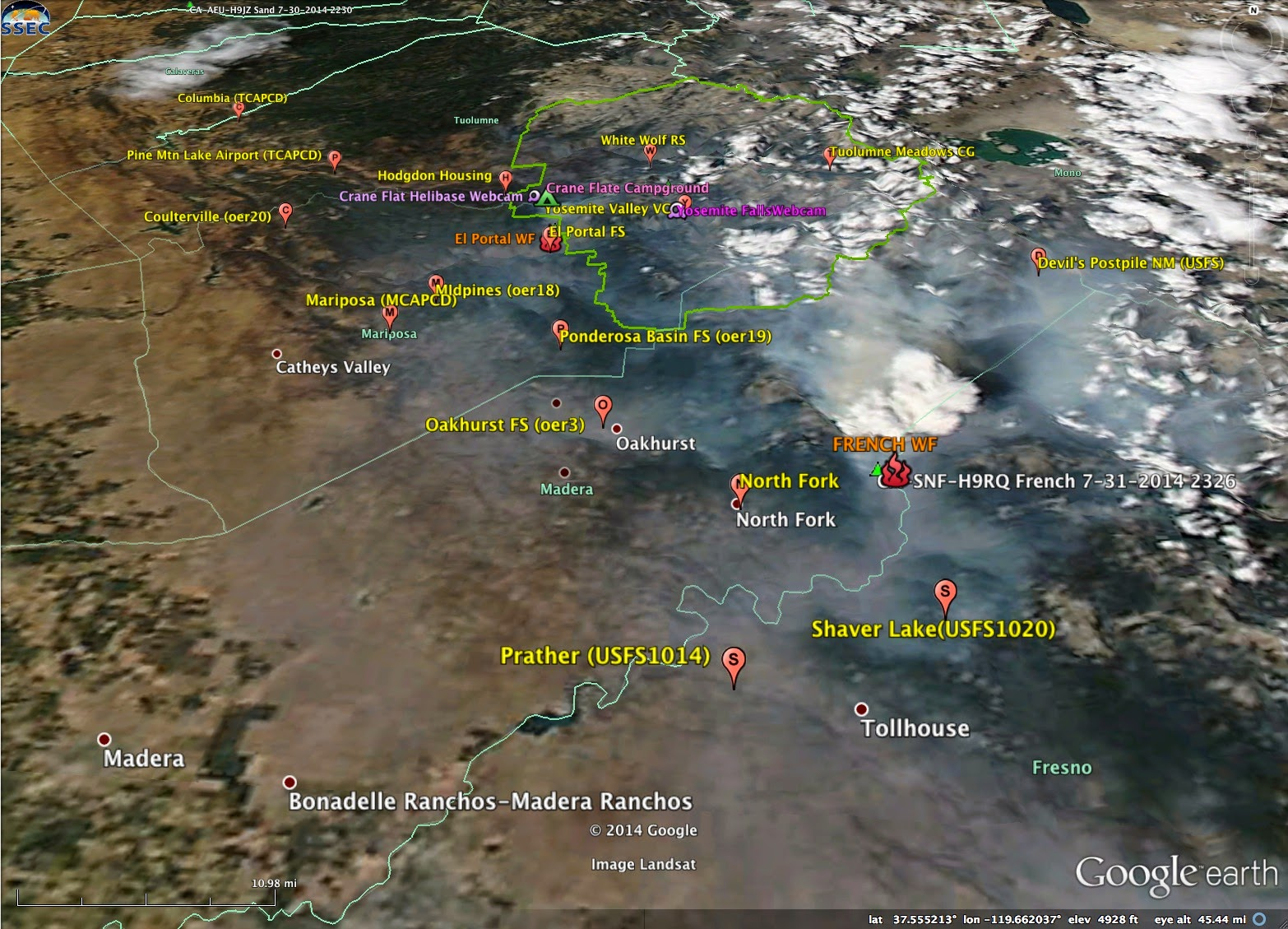 at least 4000 acres have been consumed generating over 2000 tons of smoke on that fire since then