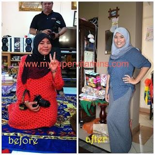 Testimonial turunkan berat badan dengan vitamin Shaklee