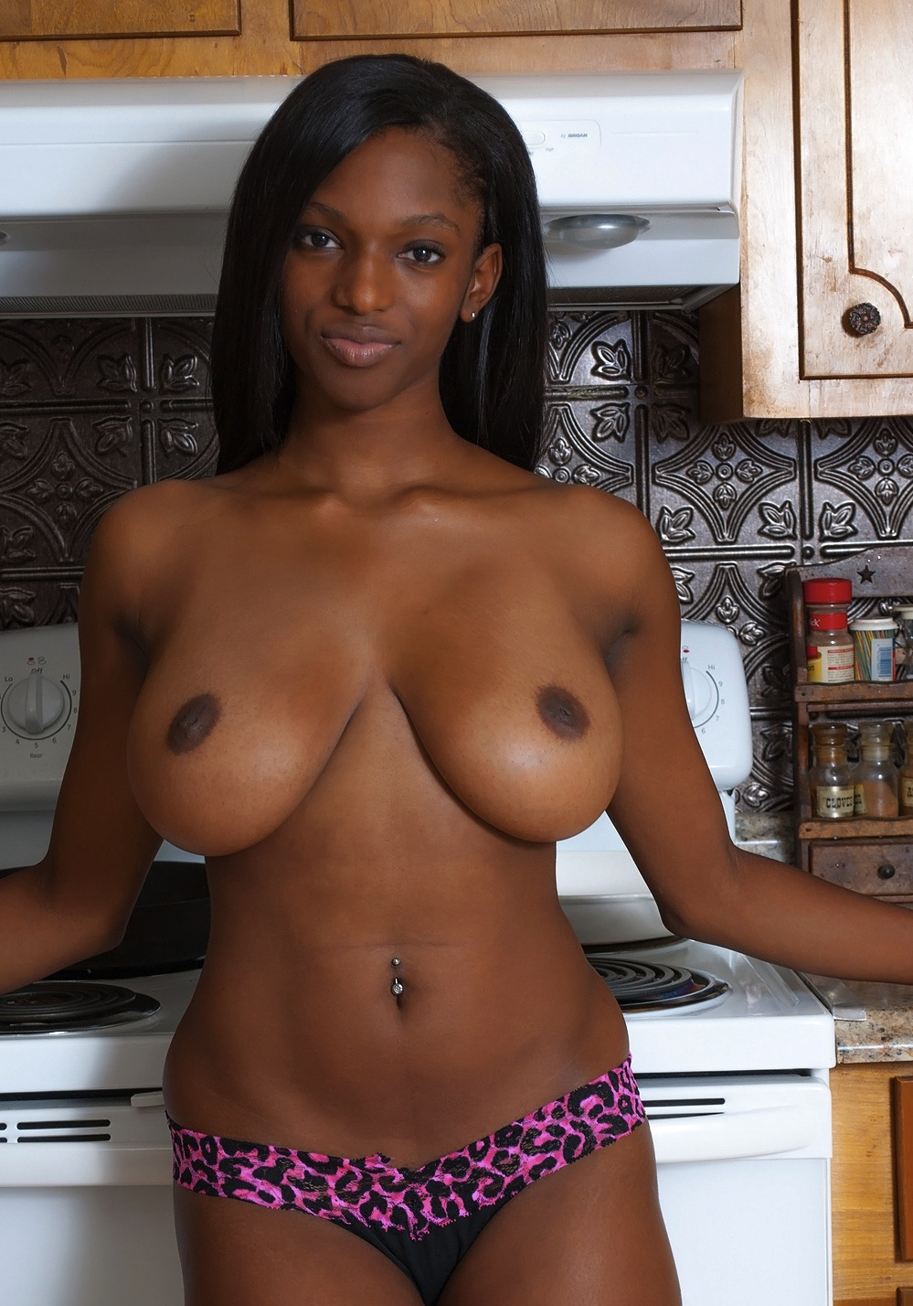 sexy big boobs black woman
