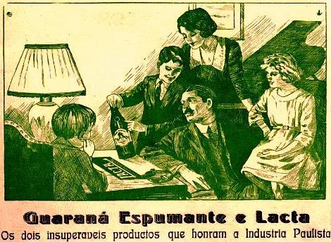 Guaraná Espumante e Chocolate Lacta em 1924