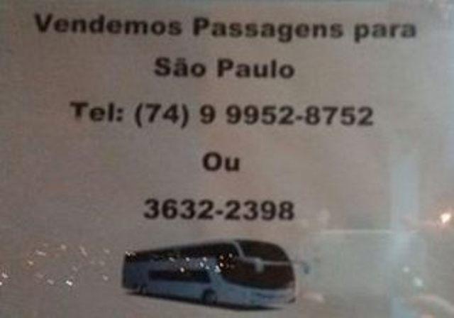 Passagens para São Paulo