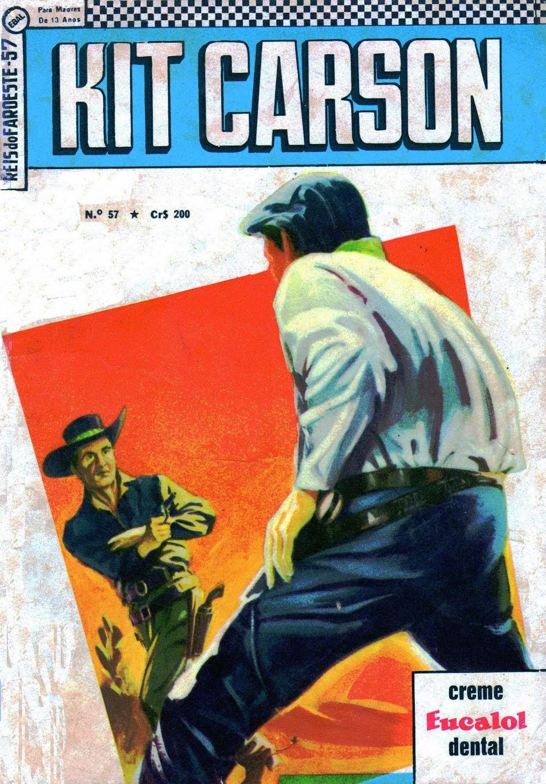 KIT CARSON   REIS DO FAROESTE  Nº 57 JUNHO 1966 - EDITORA BRASIL-AMÉRICA - EBAL HQ WESTERN (FAR-WES