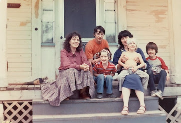 Margaret, Ladybelle and kids at York St., Lyndonville in the 1980s