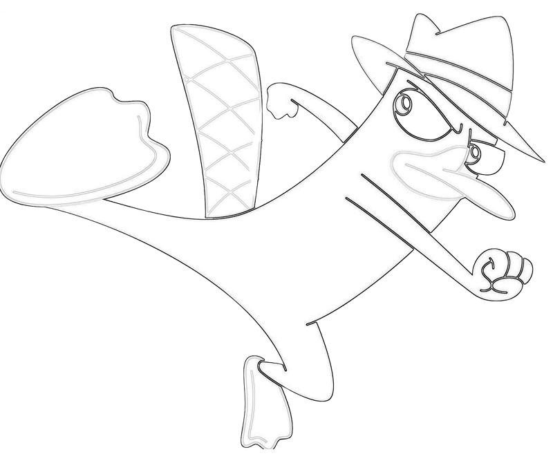 printable-perry-the-platypus-kick-coloring-pages