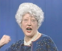 Martha Wilson as Barbara Bush, 1991