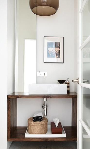 Via all doing modern for Powder room vanities for small spaces
