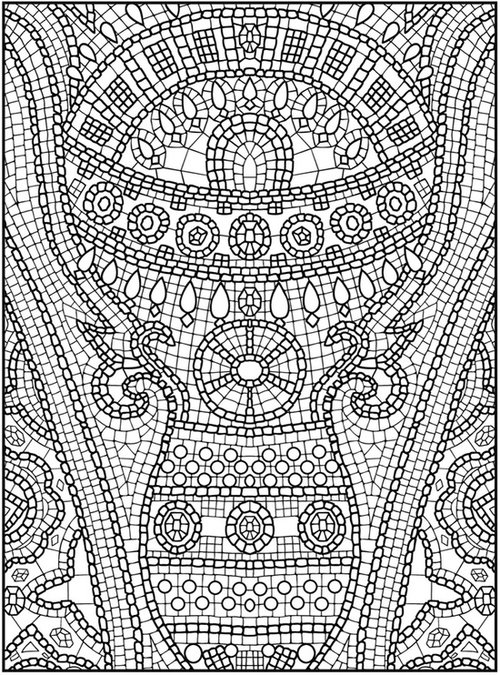 Animal Mosaic Colouring Pages : Animal mosaic colouring pages