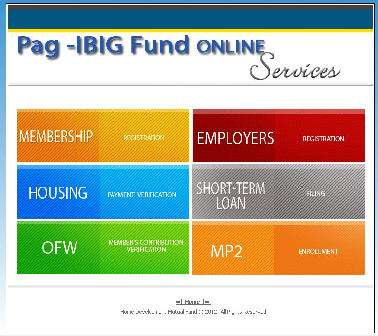 PAGIBIG ONLINE SERVICES | About Pagibig Online Services