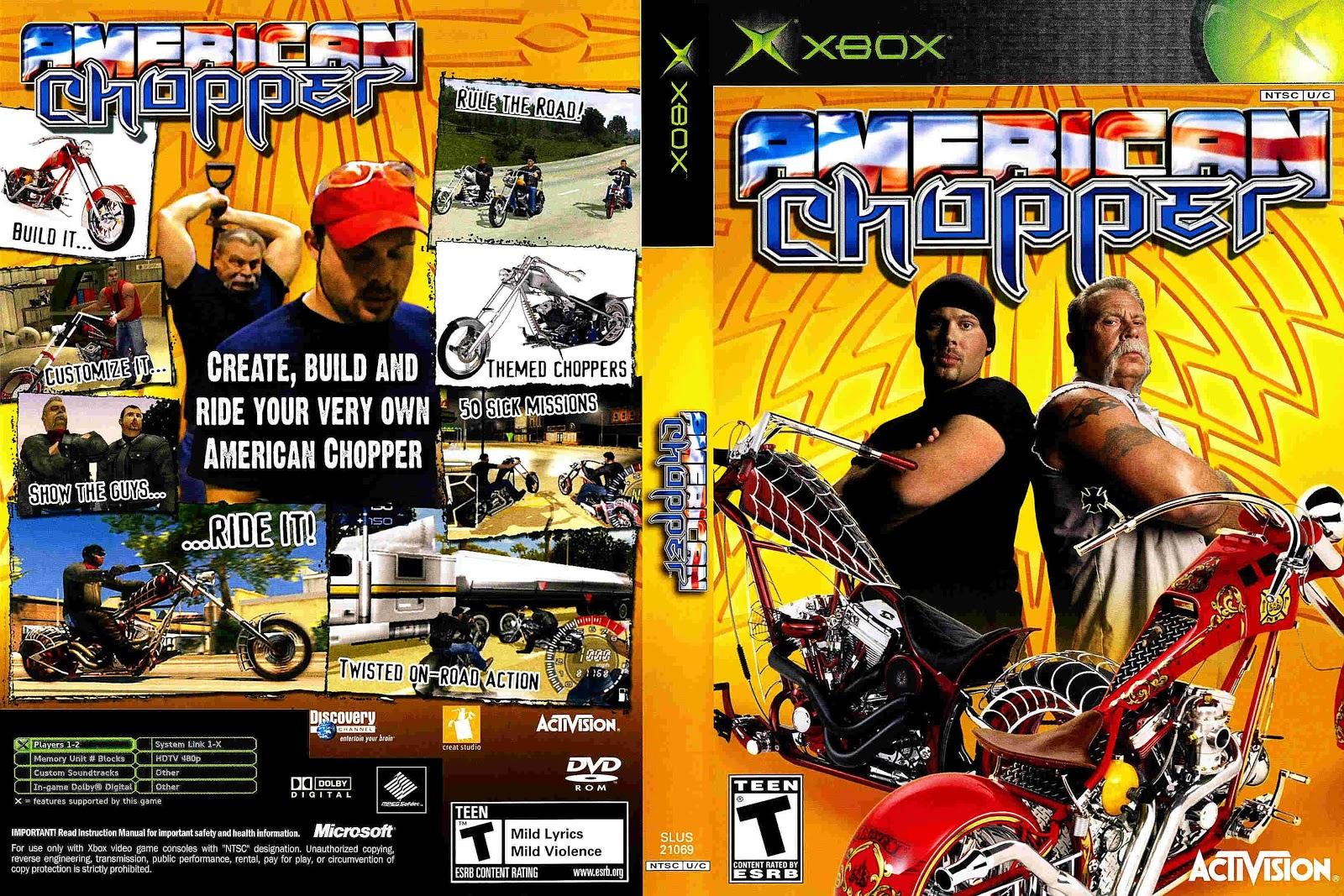 Capa American Chopper Xbox