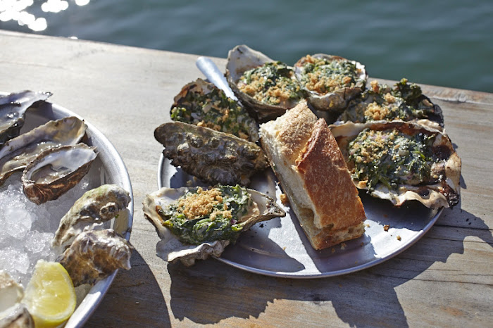 Oyster Rockefeller, The Marshall Store, Marshall California