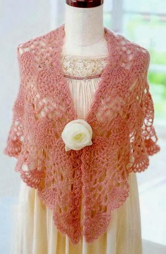Crochet Lace Weight Shawl Pattern : Crochet Shawls: Crochet Shawl Pattern - Pineapple Crochet Lace
