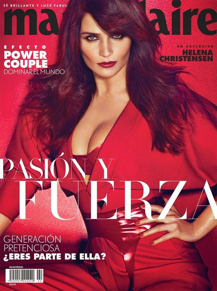 Fashion Model: Helena Christensen for Marie Claire, Mexico