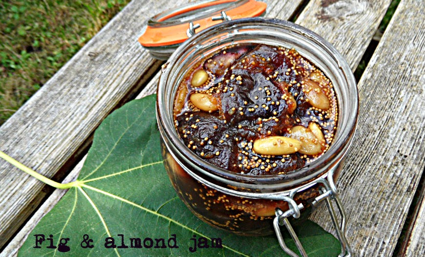 how to make fig and almond jam