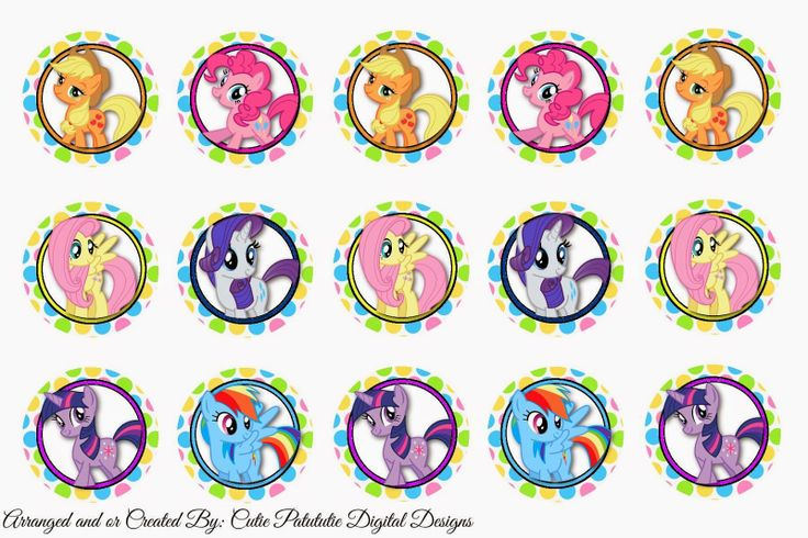 freebies my little pony bottle cap images free