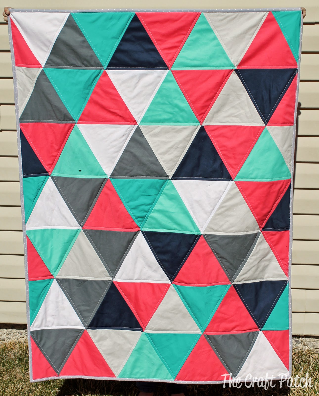 The Craft Patch: Modern Triangle Baby Quilt