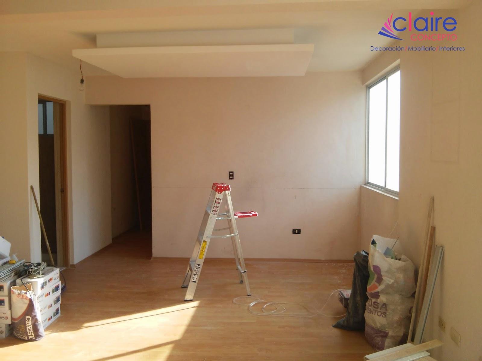 Interiores tablaroca for Plafones de pared rusticos