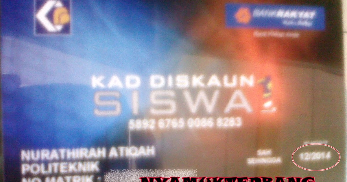 Nyamuk Terbang Bw Kad Siswa 1 Malaysia