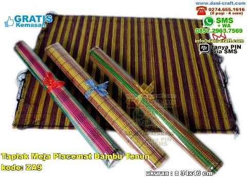 Taplak Meja Placemat Bambu Tenun