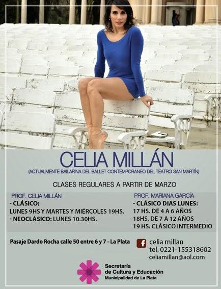 CELIA MILLAN - CLASES REGULARES DE CLASICO Y NEOCLAISCO