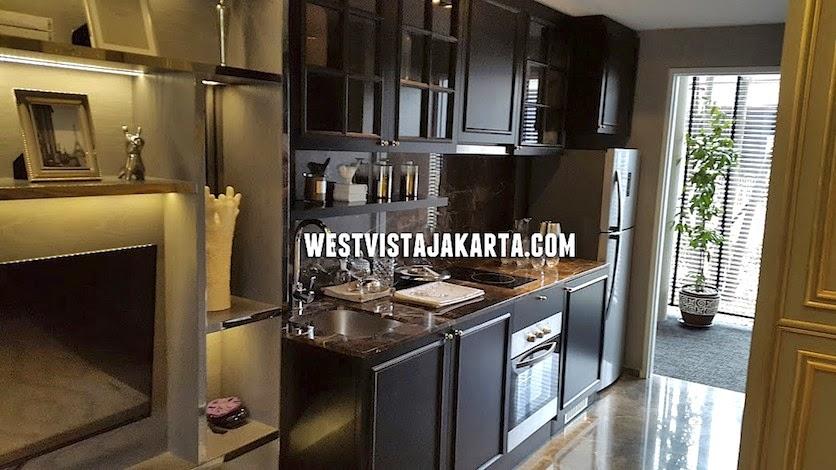 design dapur apartemen west vista jakarta barat