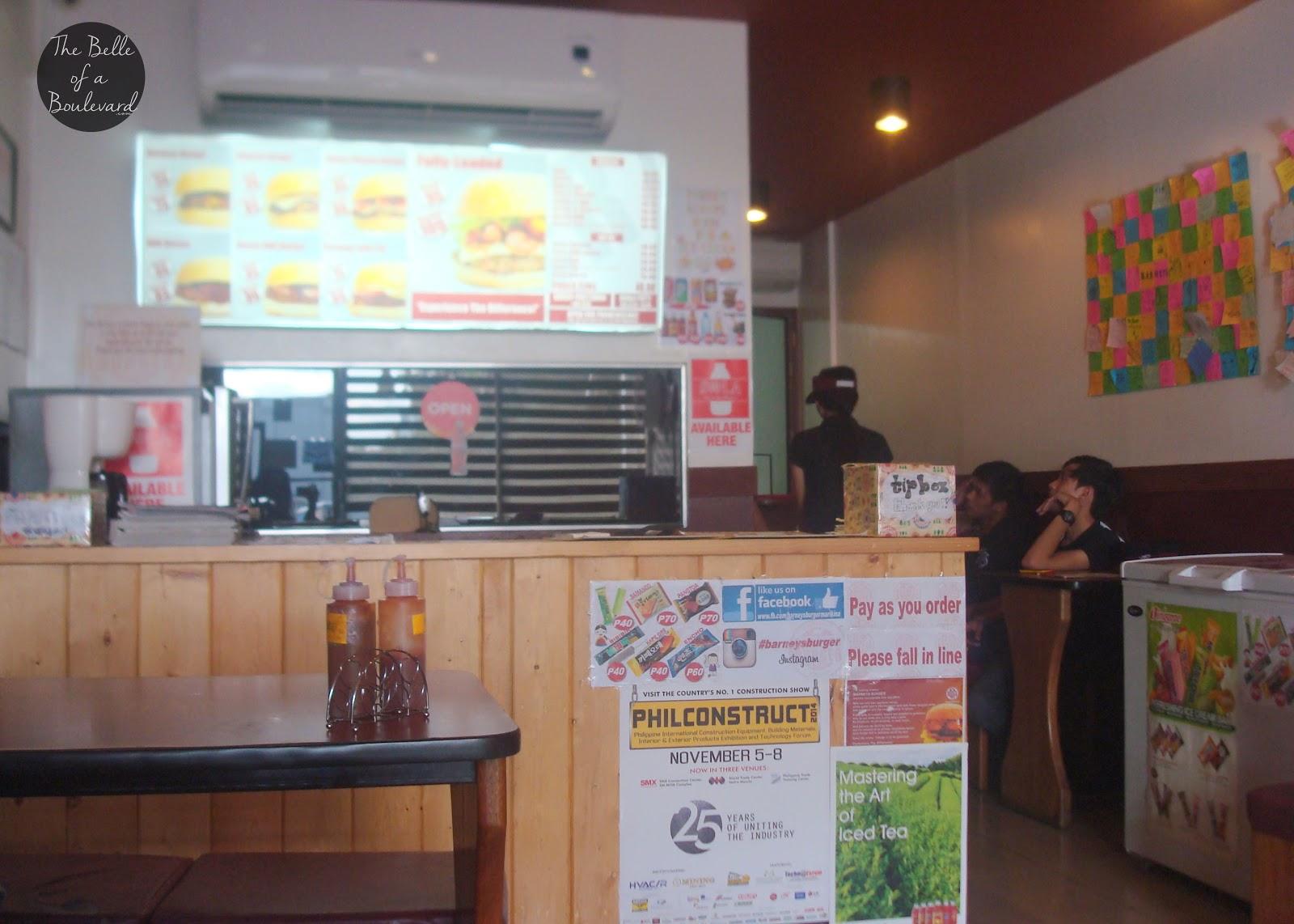Barneys Burger Marikina City Menu