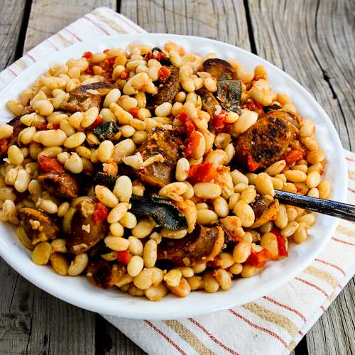 Italian Sausage and White Beans with Sage