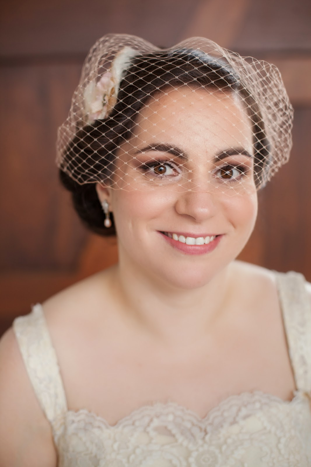 Be Bespoke Bridal Headpieces Ireland - Beautiful bride tina chose an original 1950 s ivory tulle and lace wedding gown from dirty fabulous for her recent wedding the bespoke blush birdcage veil