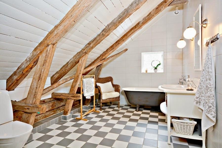 wystrój wnętrz, wnętrza, urządzanie mieszkania, dom, home decor, dekoracje, aranżacje, styl skandynawski, białe wnętrza, skandynawski, drewniany domek, łazienka
