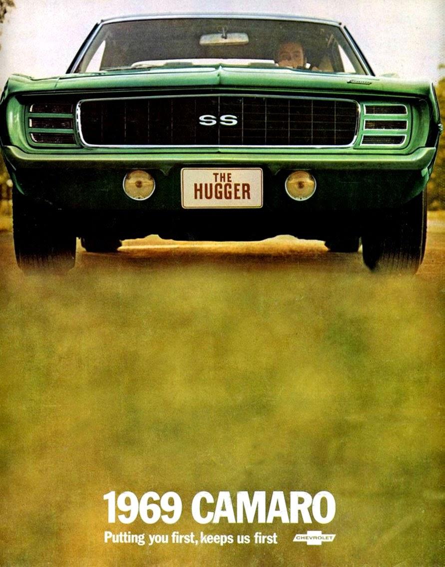 Propaganda do Chevrolet Camaro de 1969. Coupé esportivo de sucesso desde 1966.
