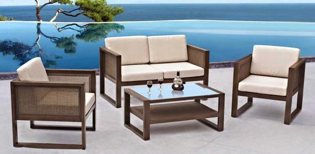 juego de tresillo y sillones para terraza