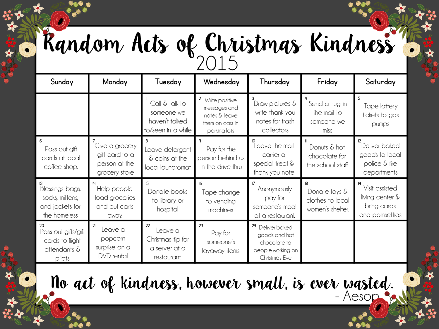 Random Acts of Christmas Kindness | Pearls, Handcuffs, and Happy ...