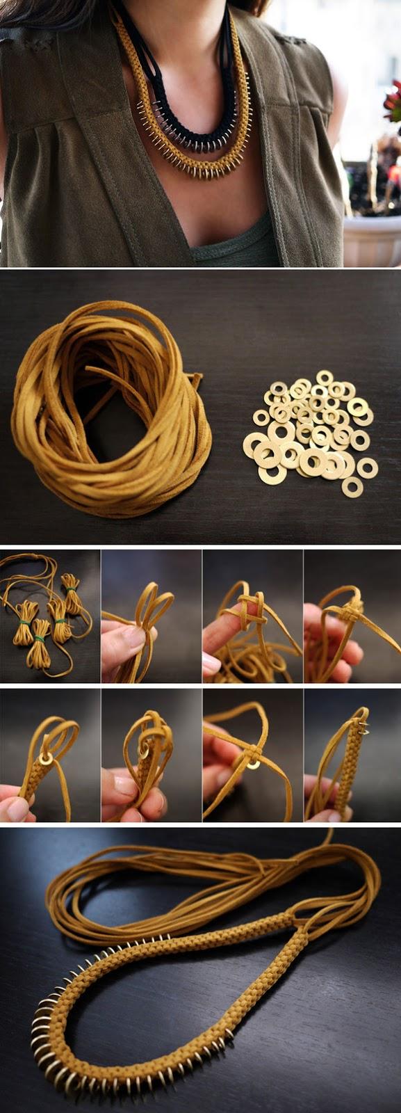 Como fazer de couro e pulseira anel