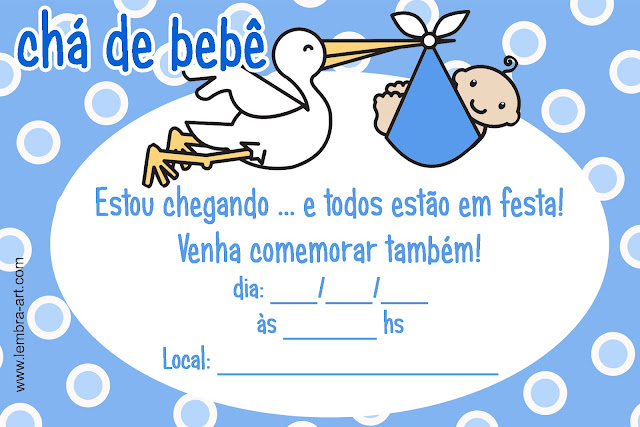 Convites De Ch   De Beb   Para Imprimir